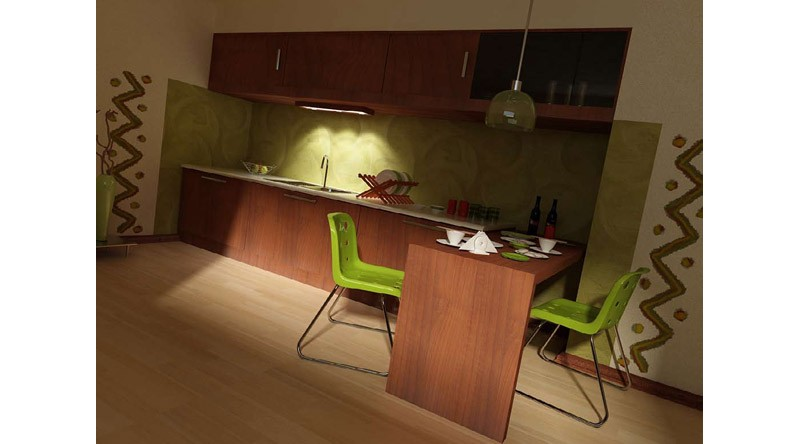 Open kitchenette