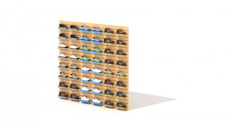 Wall shelf shoes