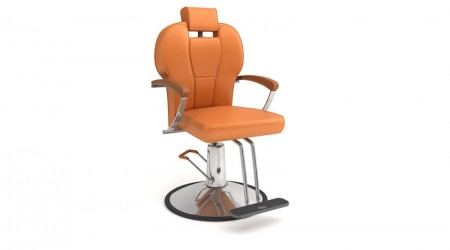 Orange chair hairdresser