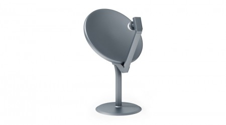 Grey satellite dish