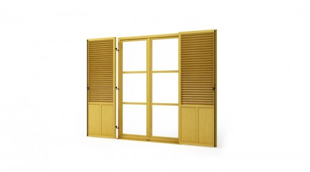 Big yellow shutters