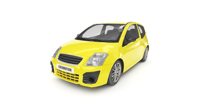 Low poly Citroen C2