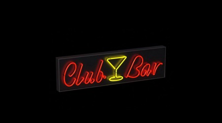 Neon sign Club Bar