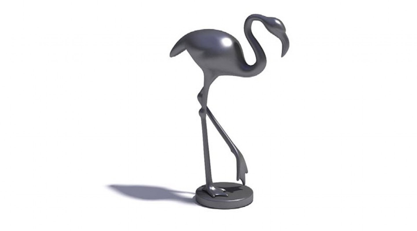 sculpture flamant rose 3d library objets mobiliers jouets mod les 3d. Black Bedroom Furniture Sets. Home Design Ideas