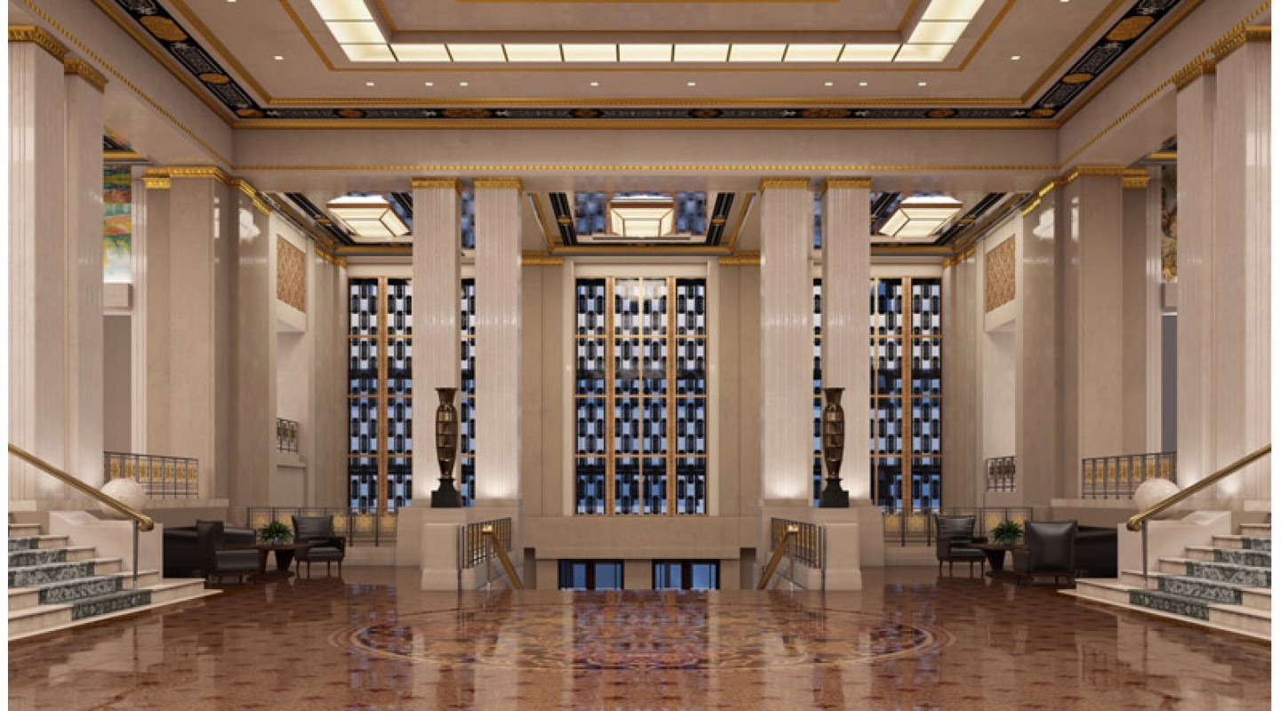 Art deco hotel lobby 3d library 3d scenes interior for Art hotel design