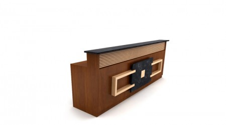 Reception desk dar wood