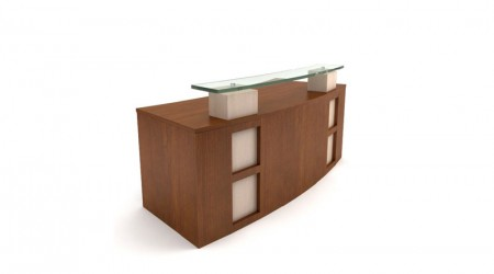 Reception desk modern wood