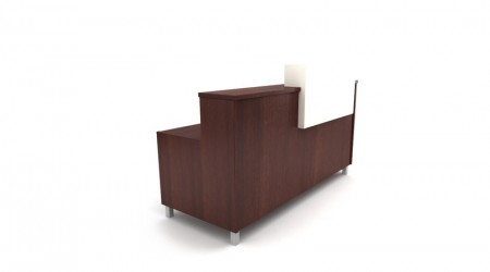 Reception desk white and wood