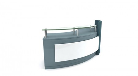 Reception desk rounded gray