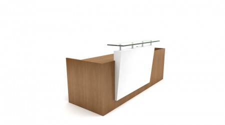 Reception desk wood
