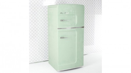 Green retro fridge