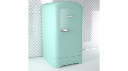 Light blue retro fridge