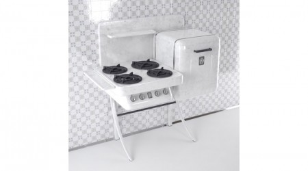 Cooker white retro