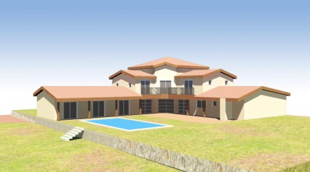large house with pool