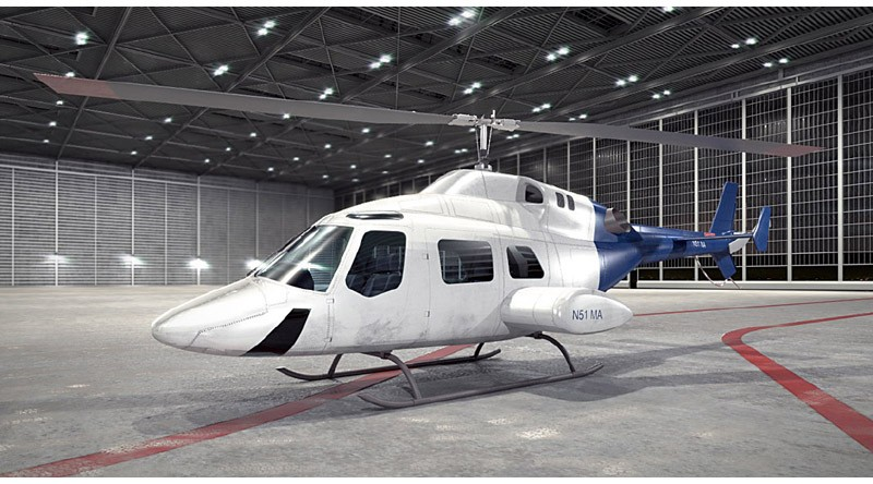 helicopter of Bell 222
