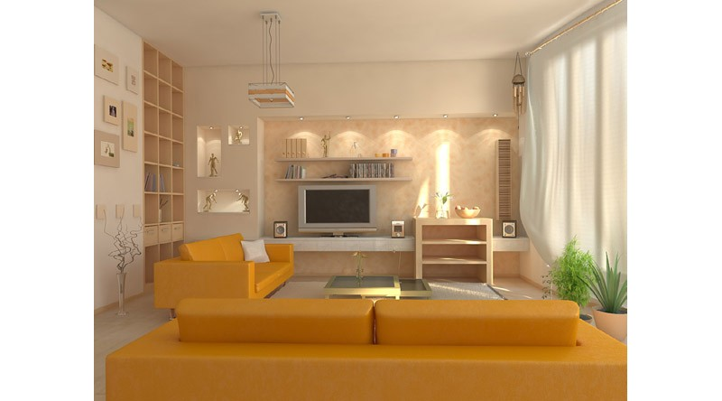lounge sofas and oranges