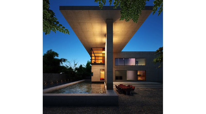 architect villa with large pool
