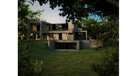 architect villa in slope