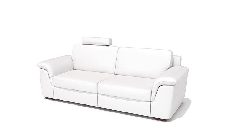 sofa with headrest