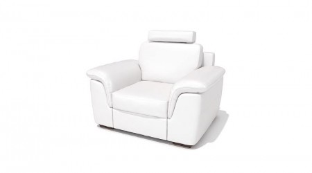 Armchair with headrest