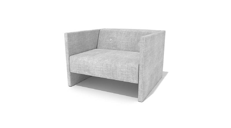 square white armchair