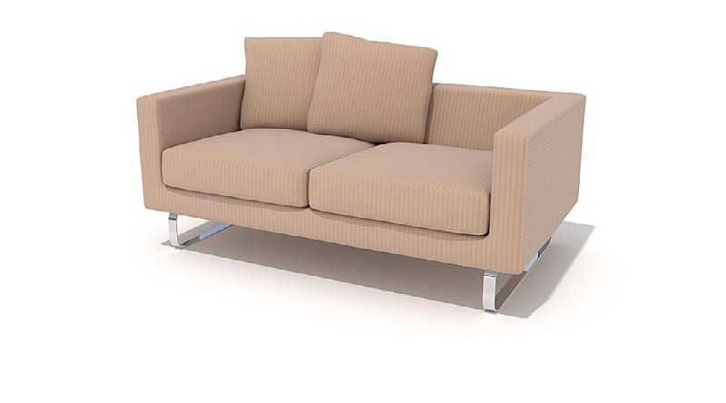 double sofa and cushions