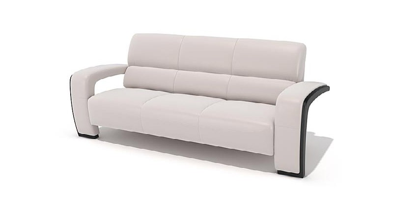 sofa with armrests in stainless steel