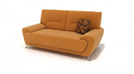 double sofa with cushion
