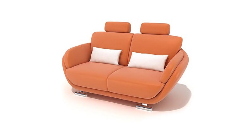 double sofa with headrests