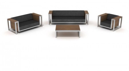 sofas,armchair and low table