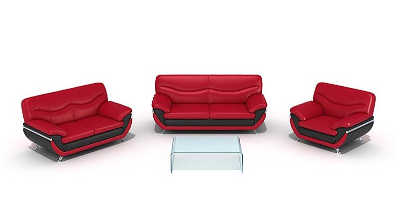 Set of leather sofas