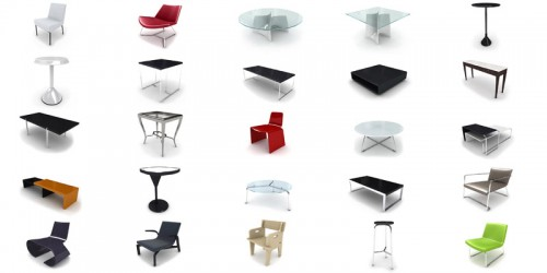 pack 3d furnitures vol 3