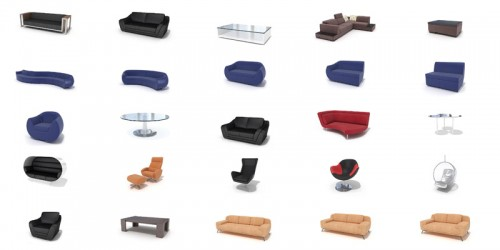 pack 3d furnitures vol 2