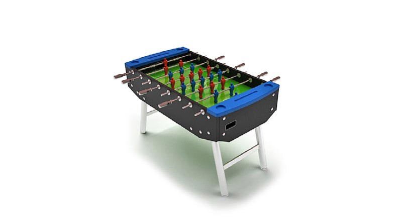 Black football table
