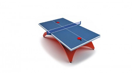 blue tennis table