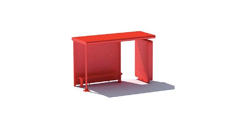 bus shelter red