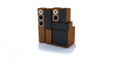 set of stereo speakers v5