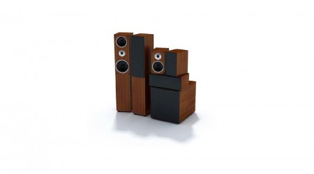 set of stereo speakers v2