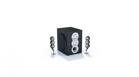 set of stereo speakers v7