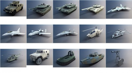 pack 3d military vehicles vol 1