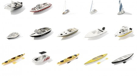 pack 3d boats vol 1
