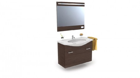 Sink and mirror set