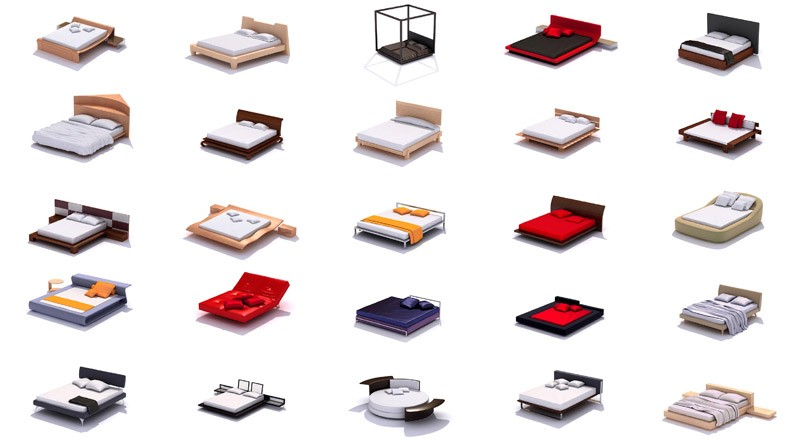 pack 3d beds vol 1
