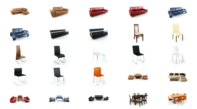 pack 3d furnitures vol 1