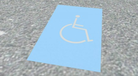 Handicapped place