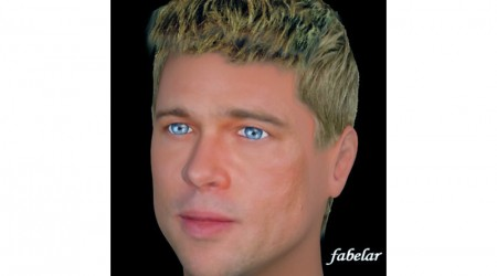 face and heads Brad Pitt