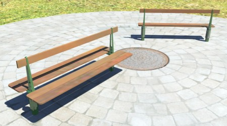 single and double benches