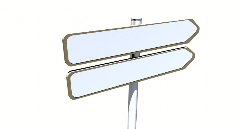 Panel directional signs