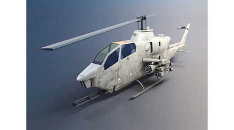 helicoptere-cobra-modele-3d