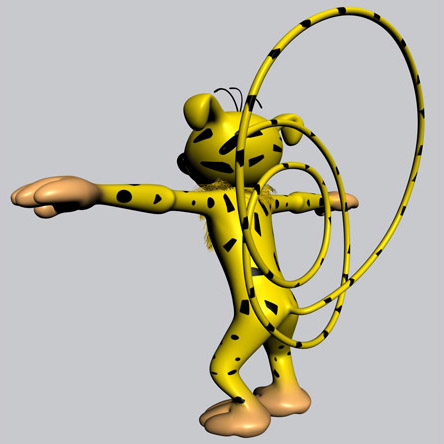 marsupilami cartoon 3d modele